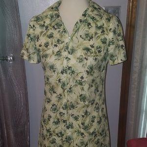 Two Size Medium zip up Vintage 50s 60s Dresses